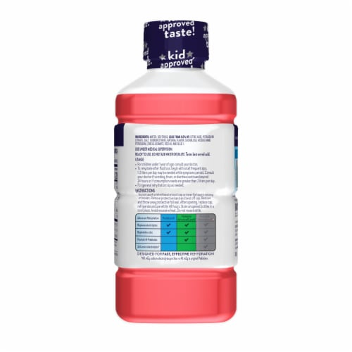 Pedialyte Strawberry Ready-to-Drink Electrolyte Solution Perspective: right