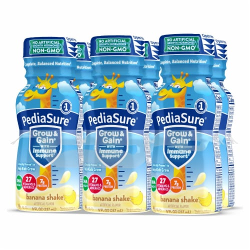 PediaSure Grow & Gain Banana Ready-to-Drink Kids' Nutritional Shakes Perspective: right