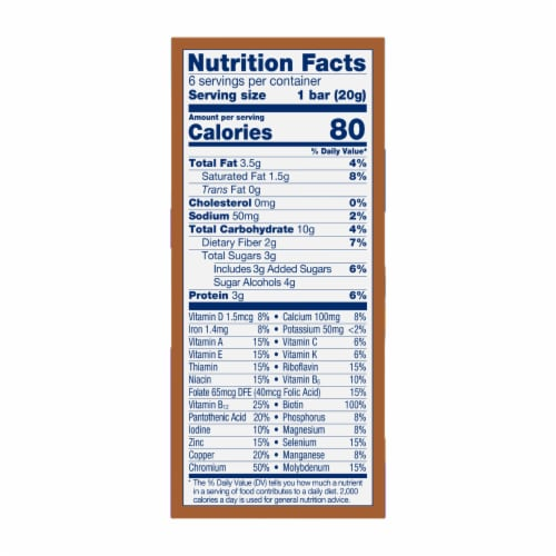 Glucerna Mini Treats Chocolate Peanut Snack Bars Perspective: right