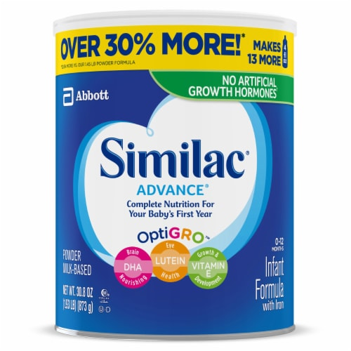 Similac Advance Infant Formula Powder with Iron Perspective: right