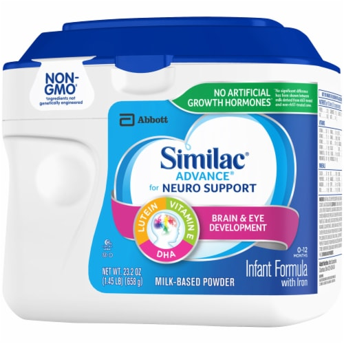 Similac Advance Infant Non-GMO Milk-Based Powder Formula with Iron Perspective: right