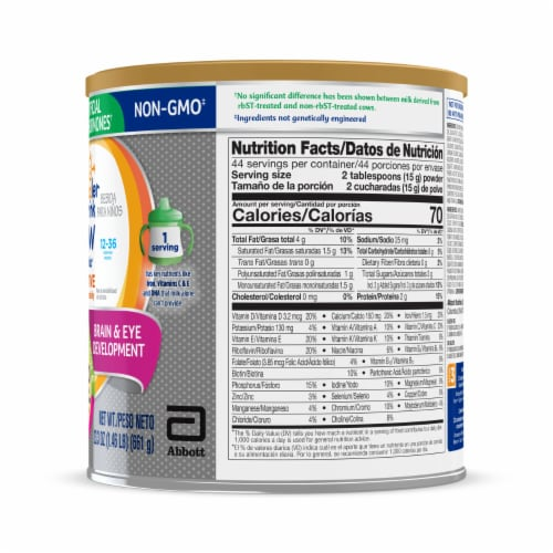 Go & Grow by Similac Sensitive Non-GMO with 2'-FL HMO Powder Toddler Drink Perspective: right