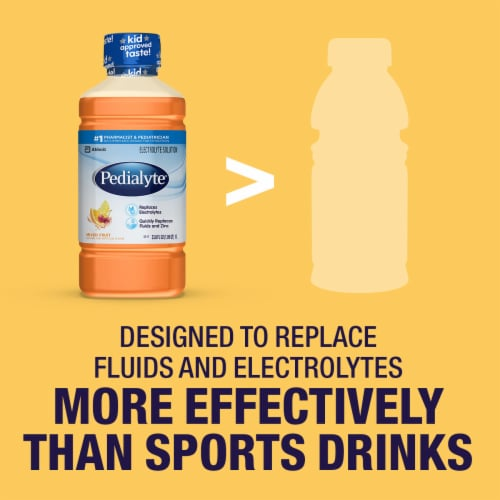 Pedialyte® Mixed Fruit Ready-to-Drink Electrolyte Solution Perspective: right
