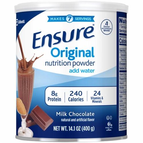 Ensure Original Chocolate Nutrition Powder Perspective: right