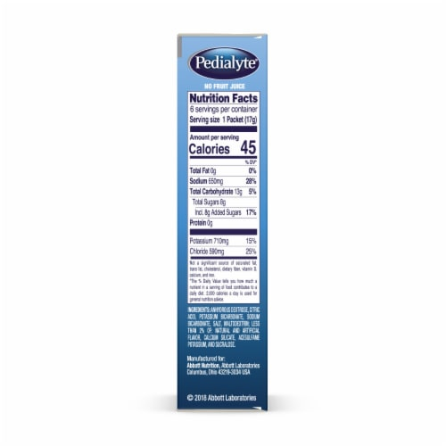 Pedialyte Sparkling Rush Grape Electrolyte Powder Packets Perspective: right
