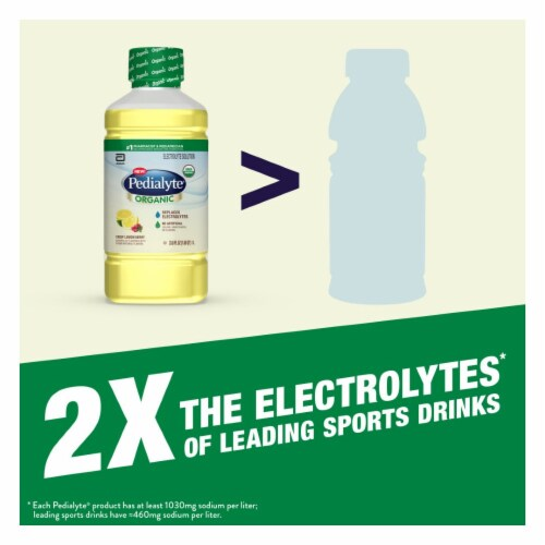 Pedialyte Organic Crisp Lemon Berry Ready-to-Drink Electrolyte Solution Perspective: right