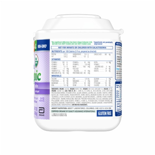 Similac Organic with A2 Milk Powder with Iron Infant Formula Perspective: right