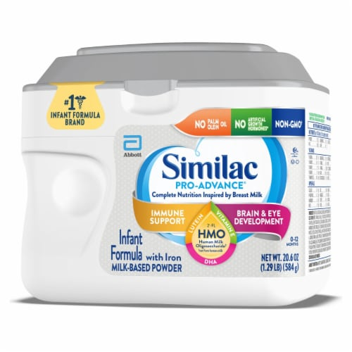 Similac Pro-Advance Milk-Based Powder Infant Formula with Iron Perspective: right
