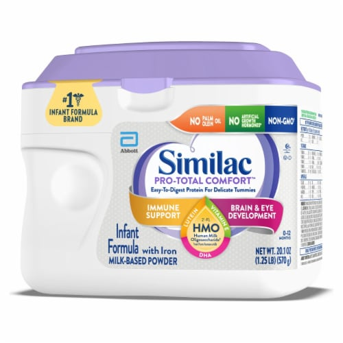 Similac Pro-Total Comfort Milk Based Powder Infant Formula with Iron Perspective: right