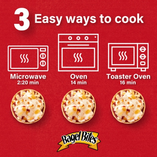 Bagel Bites Three Cheese Pizza Snacks Family Size Perspective: right