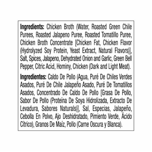 Juanita's Pozole De Pollo Chicken & Hominy Soup Perspective: right