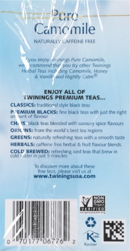 Twinings Pure Camomile Herbal Tea Perspective: right
