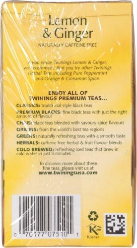 Twinings Of London Lemon & Ginger Herbal Tea Bags Perspective: right