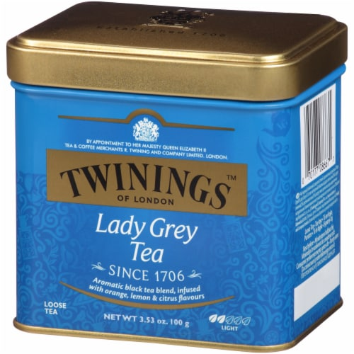 Twinings Lady Grey Tea Tin Perspective: right