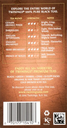Twinings Of London Lapsang Souchong Pure Black Tea Bags Perspective: right