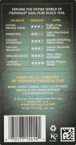 Twinings Of London Prince of Wales Pure Black Tea Bags Perspective: right