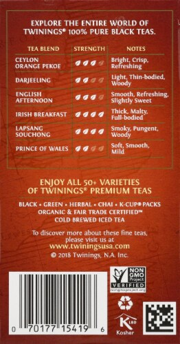 Twinings Of London English Breakfast Black Tea Bags Perspective: right