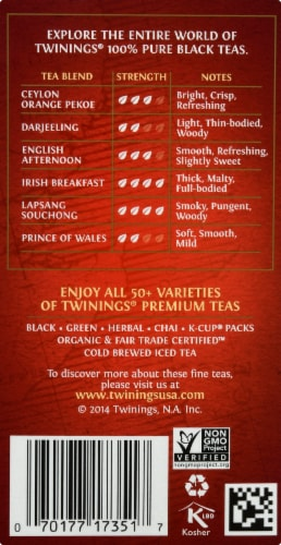 Twinings Of London Decaffeinated English Breakfast Black Tea Bags Perspective: right