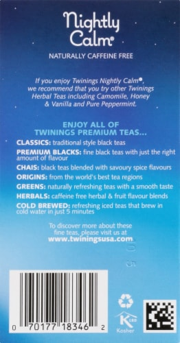 Twinings Of London Nightly Calm Herbal Tea Bags Perspective: right