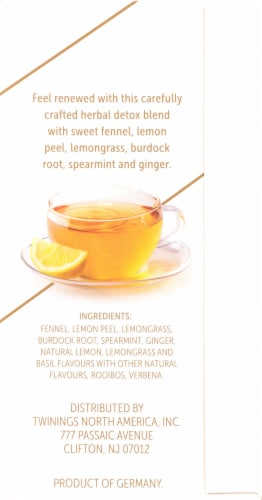 Twinings of London Renew Burdock Root Fennel Lemon & Ginger Tea Bags Perspective: right