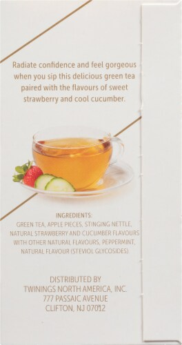 Twinings of London Glow Nettle Strawberry & Cucumber Green Tea Perspective: right