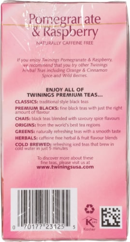 Twinings of London Pomegranate & Raspberry Herbal Tea Bags Perspective: right