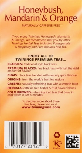 Twinings Honeybush Mandarin & Orange Herbal Tea Bags Perspective: right