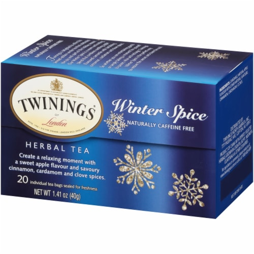 Twinings of London Winter Spice Caffeine Free Herbal Tea Bags 20 Count Perspective: right
