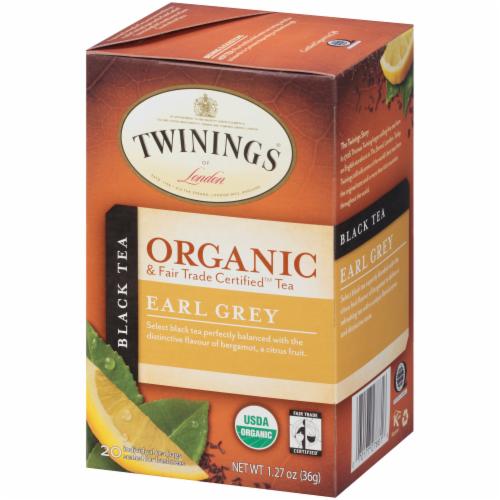 Twinings Of London Organic Earl Grey Black Tea Bags Perspective: right