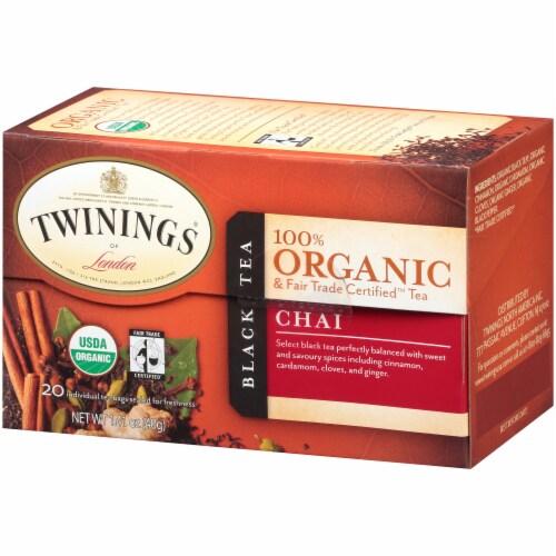 Twinings 100% Organic Chai Black Tea Perspective: right