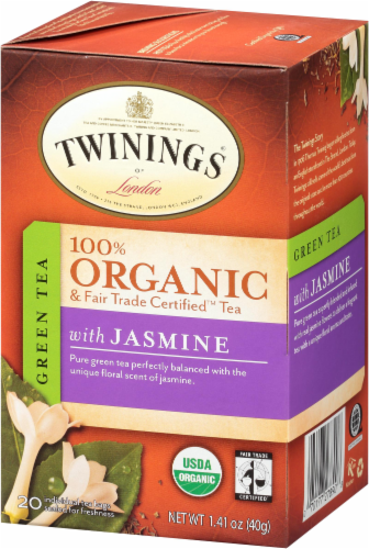 Twinings Of London Organic Jasmine Green Tea Bags Perspective: right