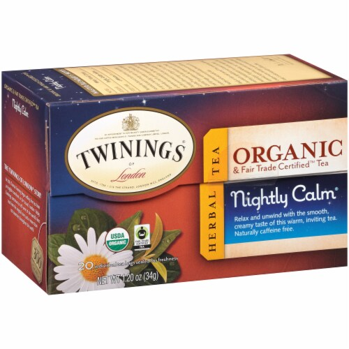 Twinings Of London Organic Nightly Calm Herbal Tea Bags Perspective: right