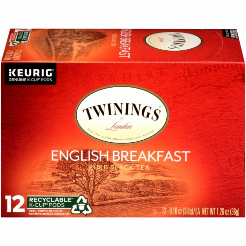 Twinings of London English Breakfast Tea K-Cup Pods Perspective: right