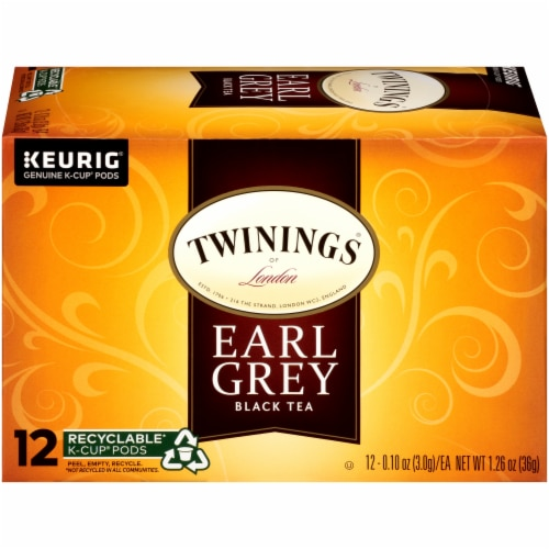 Twinings Of London Earl Grey Black Tea K-Cup Pods Perspective: right