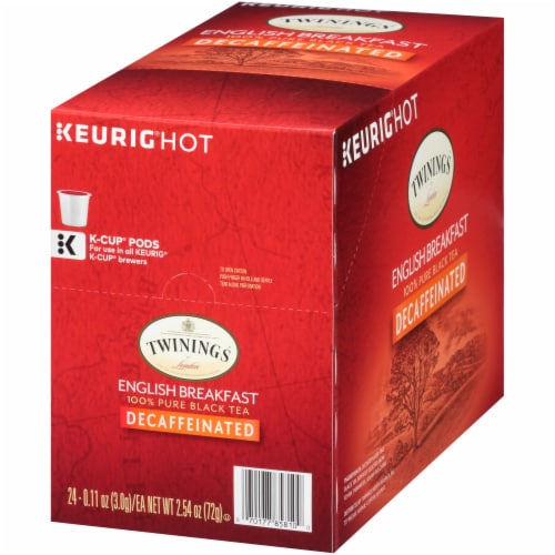 Twinings Decaffeinated English Breakfast Tea K-Cup Pods Perspective: right