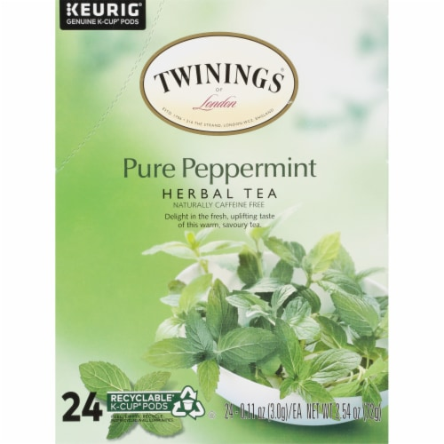 Twinings Of London Pure Peppermint Herbal Tea K-Cup Pods Perspective: right