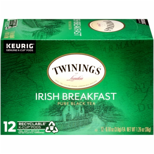 Twinings Of London Irish Breakfast Pure Black Tea K-Cup Pods Perspective: right