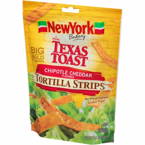 New York Bakery Chipotle Cheddar Tortilla Strips Perspective: right