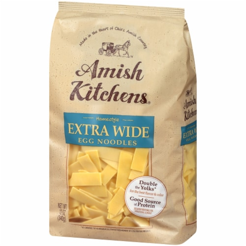 Amish Kitchens Homestyle Extra Wide Egg Noodles Perspective: right
