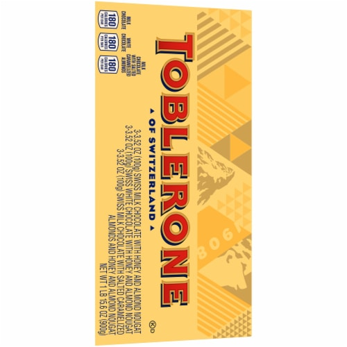 Toblerone Swiss Chocolates with Honey & Almond Nougat Variety Gift Box Perspective: right