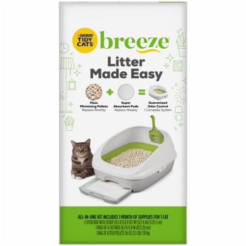 Tidy Cats Breeze Cat Litter Kit Perspective: right