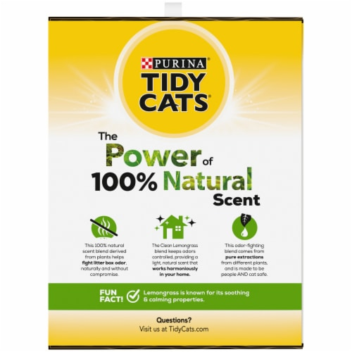 Tidy Cats Natually Strong Clean Lemongrass Litter Perspective: right