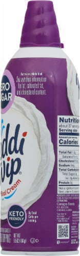 Reddi Wip® Zero Sugar Whipped Topping Perspective: right