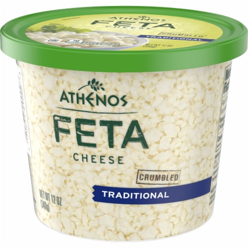 Athenos Crumbled Traditional Feta Cheese Perspective: right