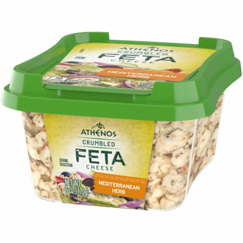 Athenos Crumbled Mediterranean Herb Feta Cheese Perspective: right