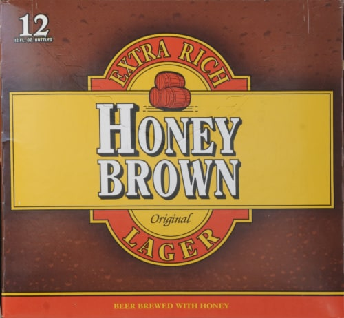 Dundee's Honey Brown Lager Perspective: right