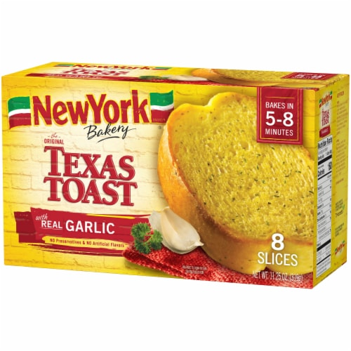 New York Bakery Garlic Texas Toast 8 Count Perspective: right
