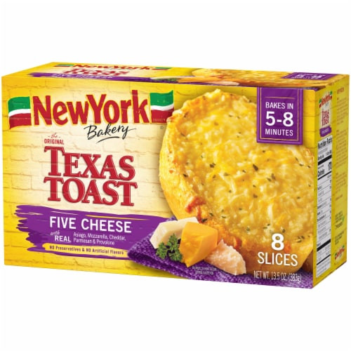 New York Bakery Five Cheese Texas Toast 8 Count Perspective: right