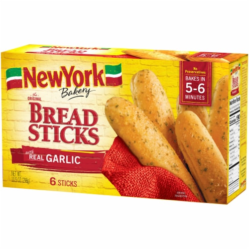New York Bakery Garlic Bread Sticks 6 Count Perspective: right