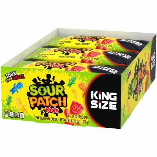 Sour Patch Kids King Size Soft & Chewy Candy Perspective: right
